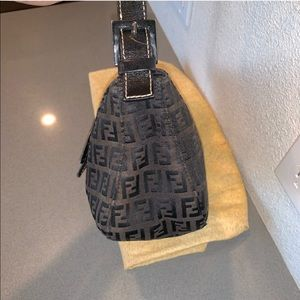 Fendi Bags - Fendi zucca baguette mini shoulder bag